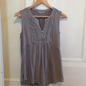 Grey sleeveless maternity blouse size M